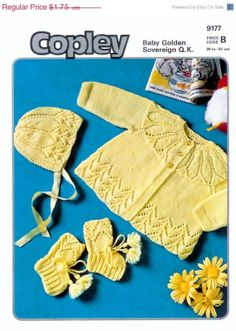 ON SALE Vintage PDF Knitting Baby Patterns Copley by avintagescot, $1.65