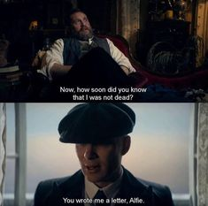 Peaky Blinders - Cillian Murphy and Tom Hardy as Thomas Shelby and Alfie Solomans 💙 Geek Movies, Sad Movies, Series Movies, Movie Tv, Tv Series, Peaky Blinders Series, Peaky Blinders Quotes, Cillian Murphy Peaky Blinders, Tv Show Quotes