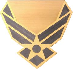 """US Air Force Plaque The """"USAF"""" plaque is inlaid with natural and color dyed wood veneer and coated with thick, durable epoxy. Plaque measures 11"""" x 10.5"""" with a large engraving area. This would be a great plaque to commemorate promotion or retirement. Contact me through Facebook at www.facebook.com/collectablewoods or email at bmwelch@collectablewoods.com"""