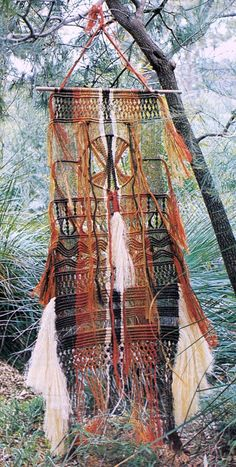 VINtAGE MACRAME WaLL Hanging LaRge by Crafting4Ever2013 on Etsy