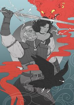Pay up, Geralt of Rivia! (The Last Wish artwork by The Witcher Wild Hunt, The Witcher Game, The Witcher Geralt, The Witcher Books, Witcher Art, Geeky Wallpaper, Witcher Wallpaper, The Last Wish, Yennefer Of Vengerberg