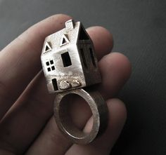 Doll House Ring /My newest ring design / Stainless Steel / by jamie spinello