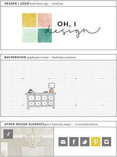 oh, i design / blog design