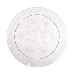 "6.25"" Clear Plastic Disposable Scrollware Plates 20ct Hanna K. Signature Collection http://www.amazon.com/dp/B004MSFAR4/ref=cm_sw_r_pi_dp_kxkkub0QY04BD"