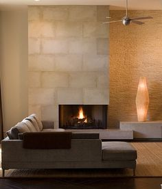 Usonian inspired fireplace / chimney...