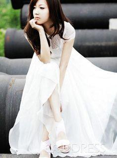 Impressive Lace Maxi Dress.Do U Like This Feel?Give me a Blue Mood Feeling.