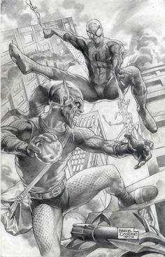 SPIDER-MAN VS GREEN GOBLIN BING CANSINO Comic Art