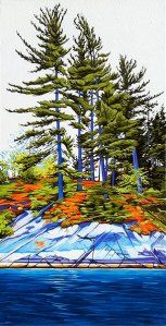 Shoreline Fraser Bay No. Oil on Canvas, 18 inches x 36 inches, SOLD Landscape Tattoo, Landscape Art, Landscape Paintings, Landscapes, Landscape Pictures, Canadian Painters, Canadian Artists, Art In The Park, Watercolor Paintings