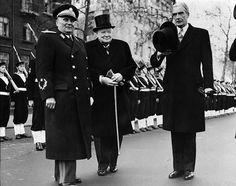 Josip Tito, Winston Churchill, and Anthony Eden in London, England, United Kingdom, 1947