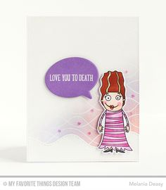 Frightful Friends Stamp Set and Die-namics, Whimsical Waves Background, Stitched Whimsical Waves Die-namics, Grave Situation Stamp Set and Die-namics, Birthday Speech Bubbles Die-namics, Pop-Up Elements Narrow Die-namics - Melania Deasy  #mftstamps