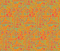 Short Circuits (Neon) fabric by robyriker on Spoonflower - custom fabric