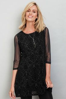 Capture Flocked Tunic at EziBuy Australia. Buy women's, men's and kids fashion online. Tunics Online, Flocking, Cold Shoulder Dress, Women Wear, Stuff To Buy, Clothes, Shopping, Black, Tops