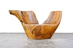 Brazilian Furniture Designer, Hugo Franca, Works Exclusively with Fallen and Dead Trees Dating 1000 Years and Old Canoes From the Pataxo Indian Tribes to Create Stunning Pieces.