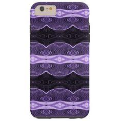 Purple Black Lace Pattern Tough iPhone 6 Plus Case