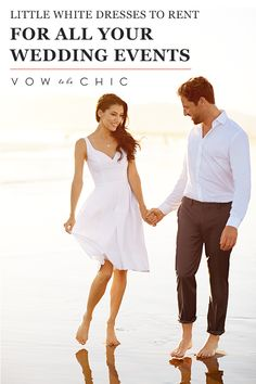 Want to look spectacular in your engagement photos? Dazzle at your bridal shower? Stun at your rehearsal dinner? Rent Little White Dresses from Vow To Be Chic and rock a designer dress for each occasion!