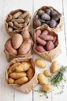 #Food: Different sorts of potatoes, biodiversity by Ina Peters for Stocksy United