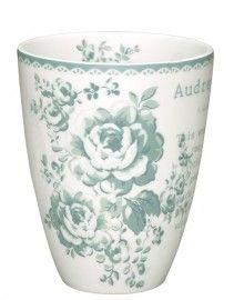 GreenGate Ceramic Cup Audrey Mint H 10,5 cm