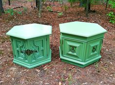 Green Vintage Side Tables or Night Stands...Sold!