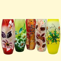 """SHOP-PARADISE.COM:  Glasvase """"Flora"""" 260 mm, matt, verschiedene Designs und Farben 17,85 €"""