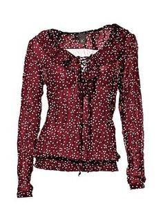 Beautiful Blouses, Polka Dots, My Style, Long Sleeve, Sleeves, Model, How To Make, Tops, Fashion