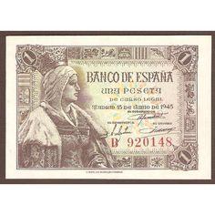 1 peseta del estado español emision 15 de junio de 1945