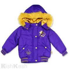 South Pole Puffer Girls Coat With Removable Faux Fur Lined Hood. #SouthPole #Jackets #Winter #Clothing
