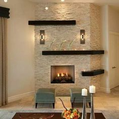15 Relaxed Transitional Living Room Designs To Unwind You 15 Relaxed Transitional Living Room Designs To Unwind You The post 15 Relaxed Transitional Living Room Designs To Unwind You appeared first on Wandgestaltung ideen. Home Fireplace, Fireplace Remodel, Modern Fireplace, Living Room With Fireplace, Fireplace Design, Living Room Decor, Fireplace Ideas, Stone Wall With Fireplace, Glass Tile Fireplace
