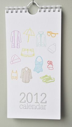 love the idea of the different trends of the month of 2012 calendar(: