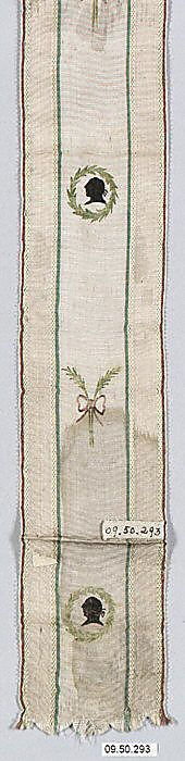 Silk ribbon early 19th century, French - in the Metropolitan Museum of Art costume collections.