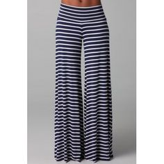 Stijlvol elastiek in de taille Striped loszittende wijde pijpen damesbroeken