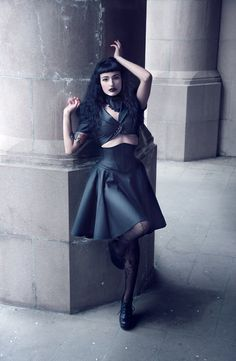Xs/S MATTE BLACK Vintage Style PVC skirt from by ArtificeClothing, $90.00