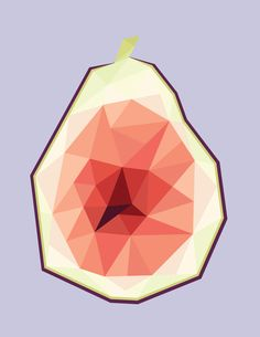 Fig, adobe illustrator (a continuation of a. - Art by Lexi Grahame Drawing Borders, Polygon Art, Triangle Design, Illustration Artists, Geometric Art, My Drawings, Graphic Art, Pop Art, Adobe Illustrator