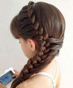 Coiffure cheveux brun mi long