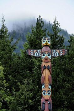 Totem, British Columbia, Canada You must be absolutely honest and true in the depicting of a totem for meaning is attached to every line. You must be most particular about detail and proportion.   ~Emily Carr