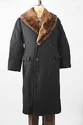 1924 Fur-Lined Wool Top Coat by Callaghan of London for William C. Bullitt, who would become the first US Ambassador to Russia.