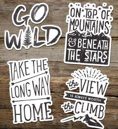 inspirational adventure sticker vinyl sticker by thecabinsupplyco