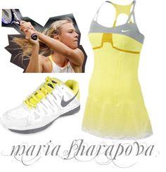 """Sharapova's Sunny Style"" by tennisexpress on Polyvore"