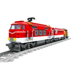 AIBOULLY 588pcs City Series Train with Tracks Building Blocks Railroad Conveyance Kids Model Bricks Toys brinquedos