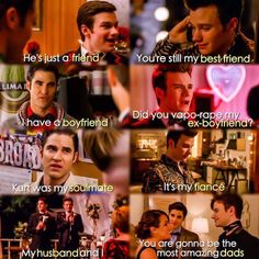 Klaine - from friends to fathers.