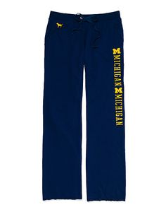 University of Michigan Boyfriend Pant PINK