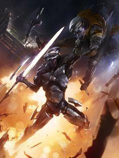Galaxy Saga: Lance Wielder Regular by ukitakumuki Futuristic Armour, Futuristic Art, Armor Concept, Concept Art, Game Concept, Galaxy Saga, Dark Fantasy, Fantasy Art, Art Cyberpunk