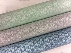 Stoff grafische Muster - BW beschichtet Luna Muschelmuster mint - ein Designerstück von Die-Stofftante bei DaWanda