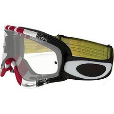 Oakley O-Frame MX Pinned Race Men's Dirt Off-Road Motorcycle Goggles Eyewear – Red Yellow/Clear / One Size Fits All