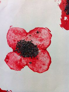 Anzac day/ remembrance day craft, simple stamping craft - w poppy seeds