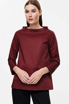 COS image 8 of Wide-neck top in Ruby