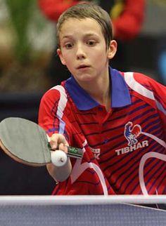 2013. Avril. Metz, France. Nolan GIVONE. Photo ITTF/Jean-Denis Beucher