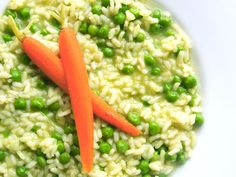 Spring pea risotto - vegan Easter menu | Michelle's tiny kitchen