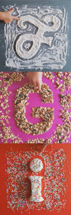 Food Type by Tommy Perez on Dribble, food typography, letter art, food, typography, play with your food, food alphabet