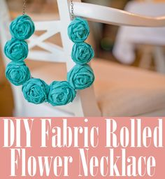 How to Make a Fabric Rolled Flower Necklace
