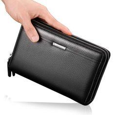 8bbd826e0510 YiYiNoe Travel Wallet Document Organizer Passport Holder Phone Handbag  checkbook Card Case Long Wallet for Men